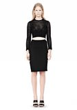 ALEXANDER WANG FITTED CROCHET PENCIL SKIRT SKIRT Adult 8_n_f
