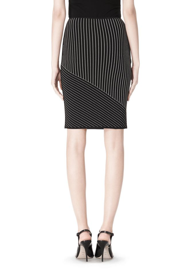 ALEXANDER WANG MIXED PINSTRIPE SKIRT SKIRT Adult 12_n_d