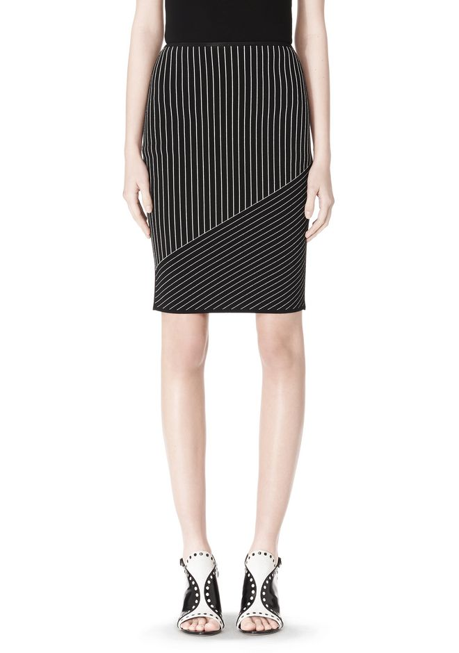 ALEXANDER WANG MIXED PINSTRIPE SKIRT SKIRT Adult 12_n_e