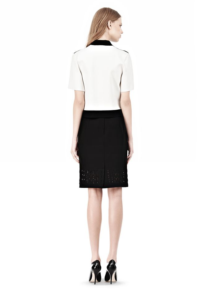 ALEXANDER WANG PENCIL SKIRT WITH LOGO EYELET EMBROIDERY SKIRT Adult 12_n_r