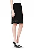 ALEXANDER WANG PENCIL SKIRT WITH LOGO EYELET EMBROIDERY SKIRT Adult 8_n_e