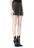 ALEXANDER WANG RAW EDGE LEATHER MINI SKIRT SKIRT Adult 8_n_e