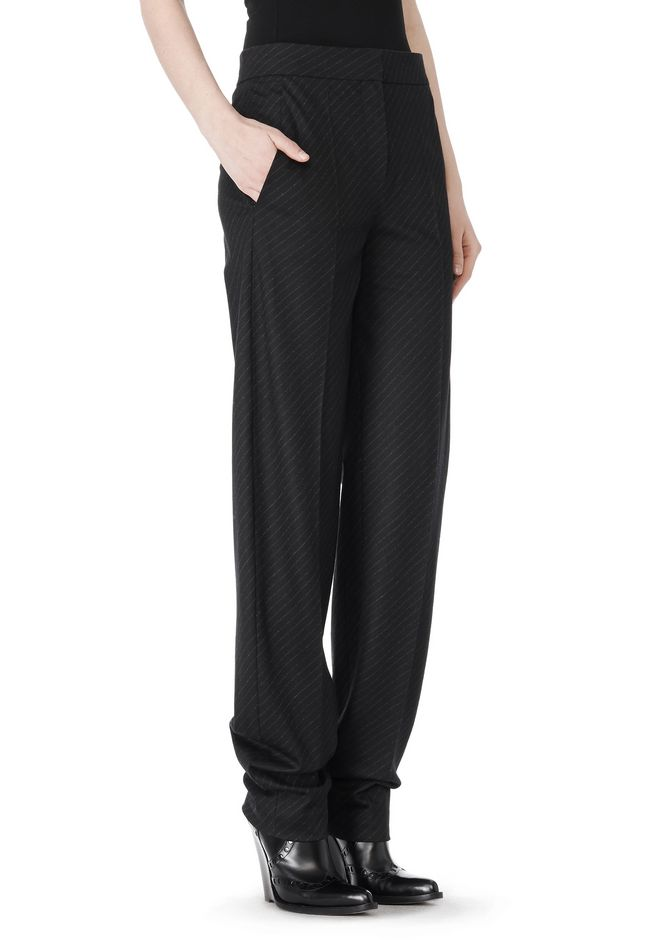ALEXANDER WANG LOW WAISTED PINSTRIPE PANT PANTS Adult 12_n_e