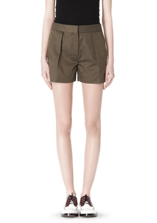 ALEXANDER WANG LOW WAISTED SINGLE PLEAT SHORT SHORTS Adult 12_n_d