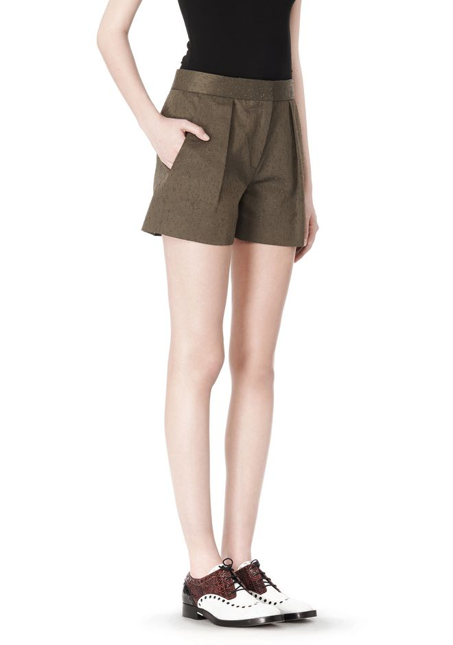 ALEXANDER WANG LOW WAISTED SINGLE PLEAT SHORT SHORTS Adult 12_n_e
