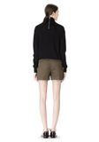 ALEXANDER WANG LOW WAISTED SINGLE PLEAT SHORT SHORTS Adult 8_n_r