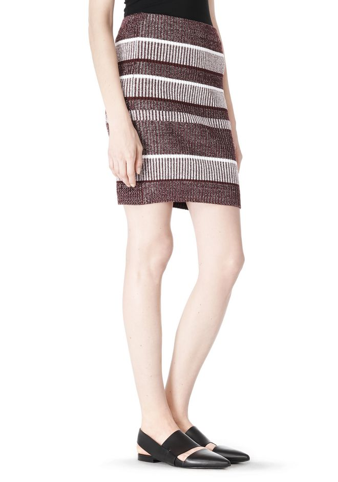 T by ALEXANDER WANG RIB KNIT PENCIL SKIRT SKIRT Adult 12_n_e