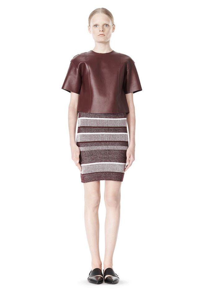 T by ALEXANDER WANG RIB KNIT PENCIL SKIRT SKIRT Adult 12_n_f