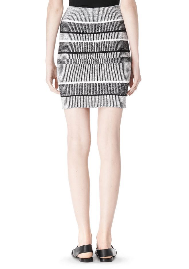 T by ALEXANDER WANG RIB KNIT PENCIL SKIRT SKIRT Adult 12_n_a