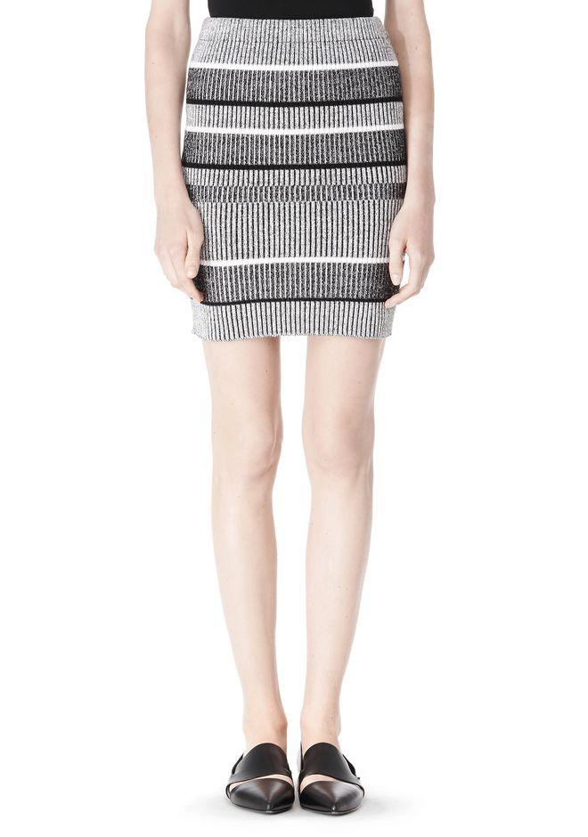 T by ALEXANDER WANG RIB KNIT PENCIL SKIRT SKIRT Adult 12_n_d