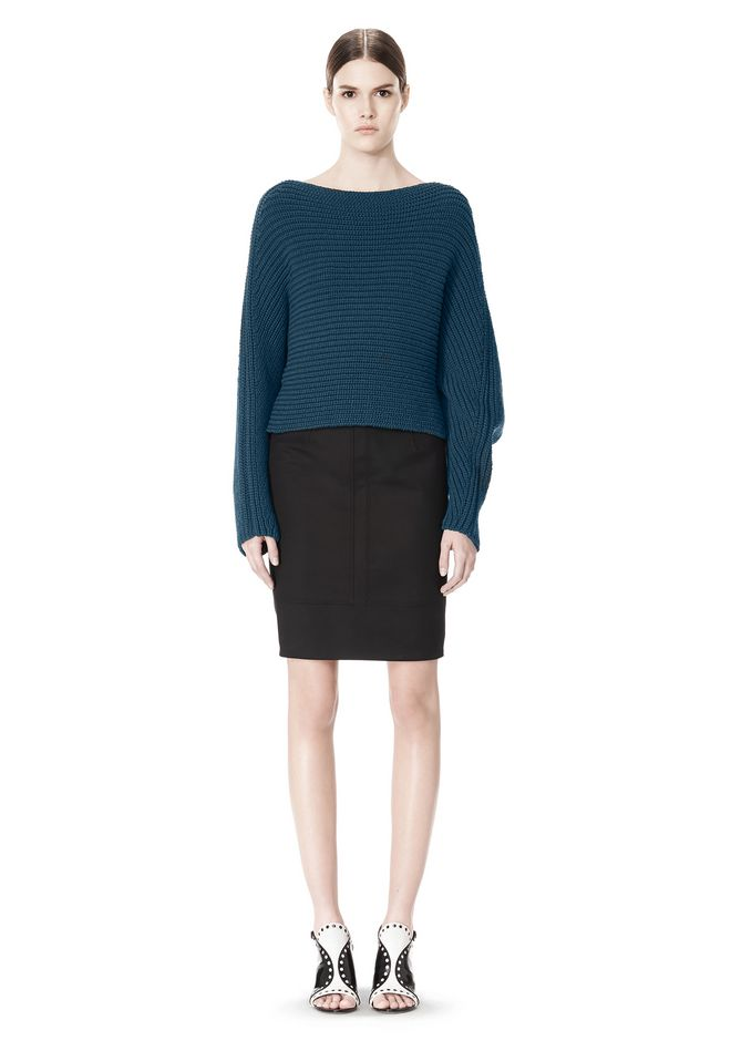 ALEXANDER WANG HIGHWAISTED PENCIL SKIRT  SKIRT Adult 12_n_f