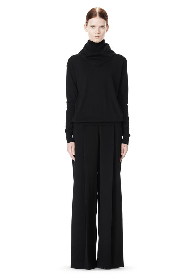 ALEXANDER WANG HIGH WAISTED PLEAT FRONT PANT PANTS Adult 12_n_f