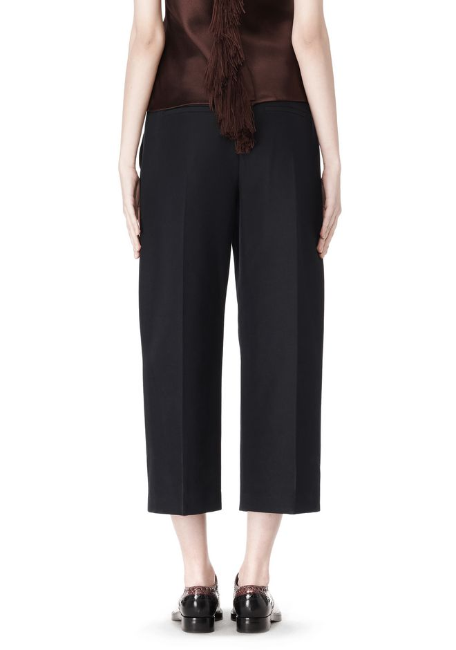 ALEXANDER WANG CROPPED PANT WITH DISTRESSED DETAIL PANTS Adult 12_n_a