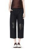 ALEXANDER WANG CROPPED PANT WITH DISTRESSED DETAIL PANTS Adult 8_n_d