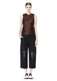 ALEXANDER WANG CROPPED PANT WITH DISTRESSED DETAIL PANTS Adult 8_n_f