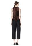 ALEXANDER WANG CROPPED PANT WITH DISTRESSED DETAIL PANTS Adult 8_n_r