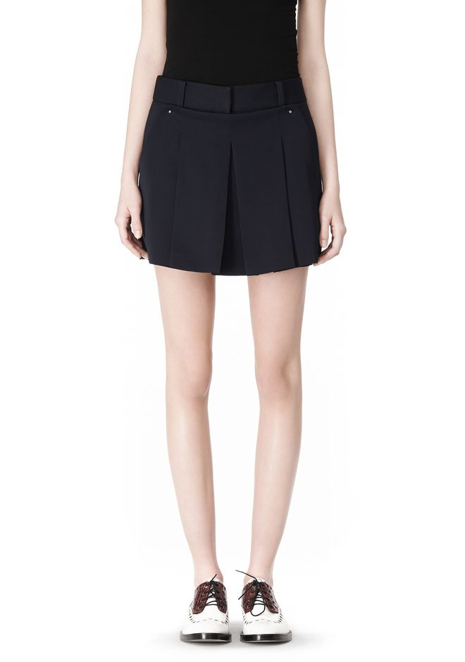 ALEXANDER WANG PLEATED FRONT SKORT WITH STUD DETAIL SKIRT Adult 12_n_d