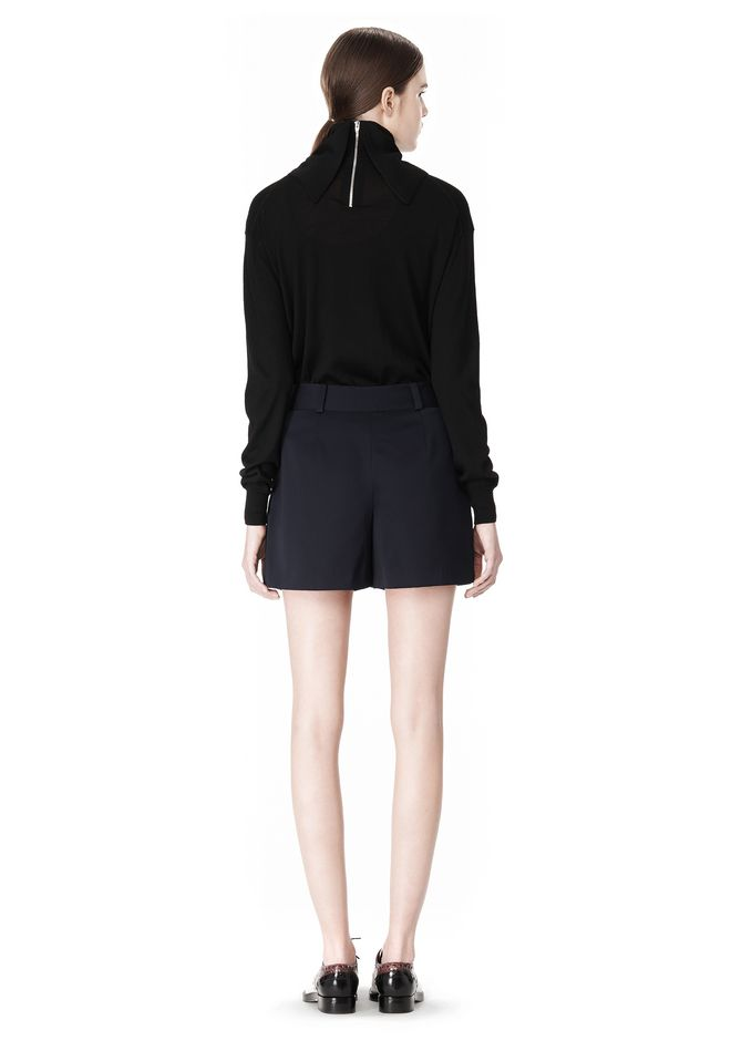 ALEXANDER WANG PLEATED FRONT SKORT WITH STUD DETAIL SKIRT Adult 12_n_r
