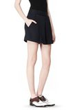ALEXANDER WANG PLEATED FRONT SKORT WITH STUD DETAIL SKIRT Adult 8_n_e