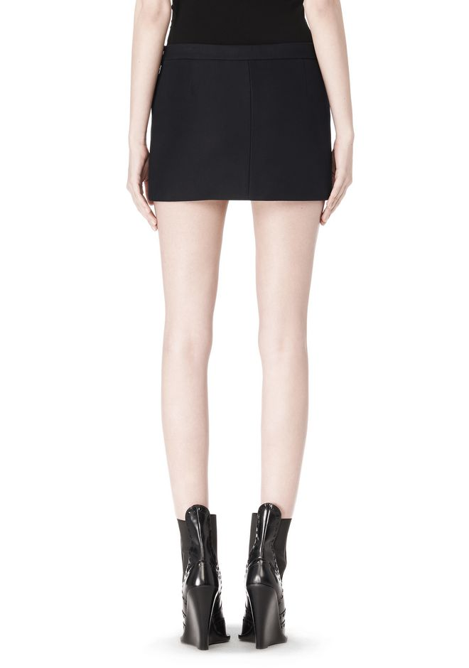 ALEXANDER WANG CROPPED SKIRT WITH DISTRESSED DETAIL SKIRT Adult 12_n_a