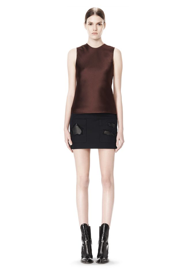 ALEXANDER WANG CROPPED SKIRT WITH DISTRESSED DETAIL SKIRT Adult 12_n_f
