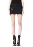 ALEXANDER WANG CROPPED SKIRT WITH DISTRESSED DETAIL SKIRT Adult 8_n_d