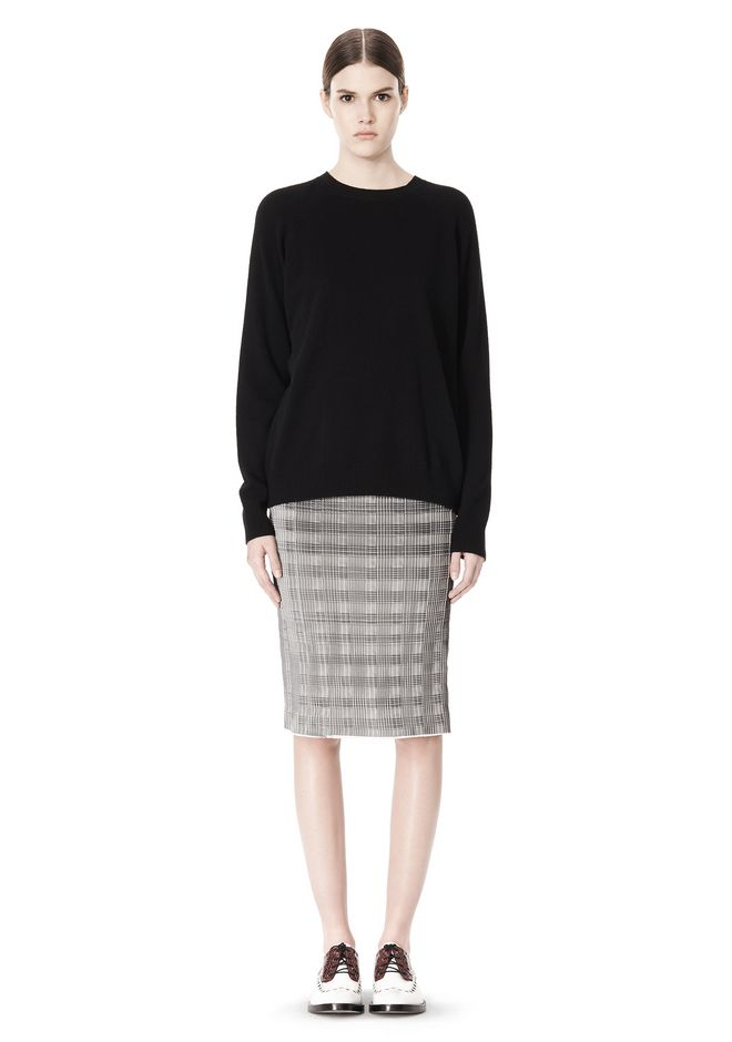 ALEXANDER WANG PLEATED SKIRT WITH RAW EDGE FINISH SKIRT Adult 12_n_f