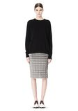 ALEXANDER WANG PLEATED SKIRT WITH RAW EDGE FINISH SKIRT Adult 8_n_f