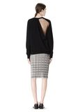ALEXANDER WANG PLEATED SKIRT WITH RAW EDGE FINISH SKIRT Adult 8_n_r
