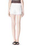 T by ALEXANDER WANG COTTON BURLAP CUT OFF JEAN SHORTS  SHORTS Adult 8_n_a