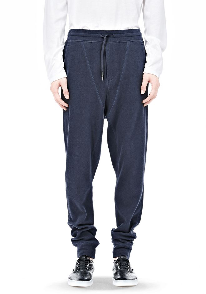 T by ALEXANDER WANG PIQUE DOUBLE KNIT LONG JOHN SWEATPANTS PANTS Adult 12_n_a