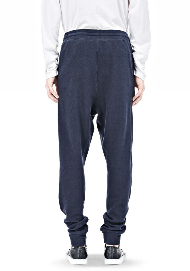 T by ALEXANDER WANG PIQUE DOUBLE KNIT LONG JOHN SWEATPANTS PANTS Adult 12_n_d