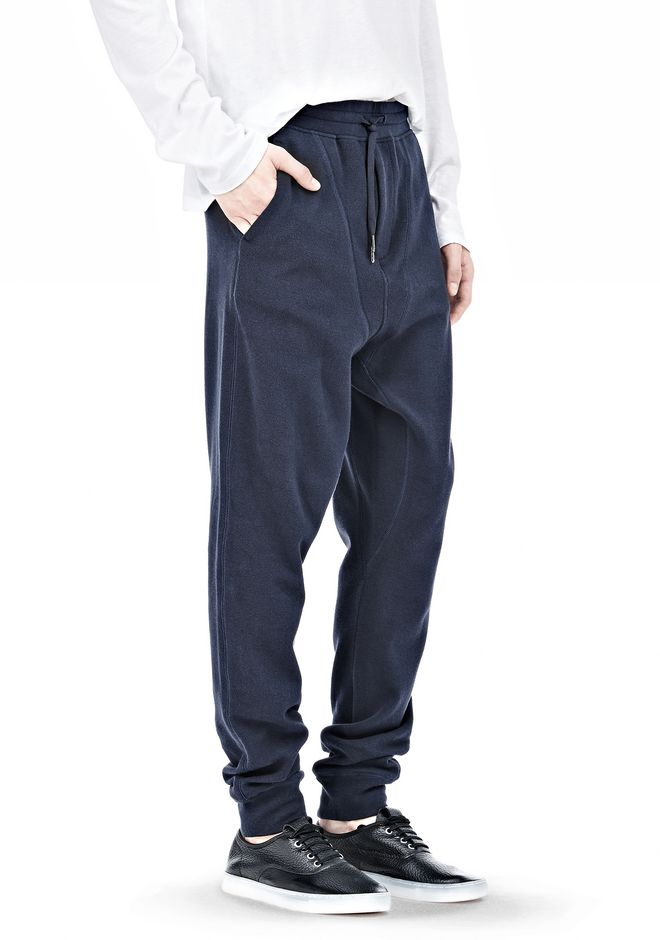 T by ALEXANDER WANG PIQUE DOUBLE KNIT LONG JOHN SWEATPANTS PANTS Adult 12_n_e