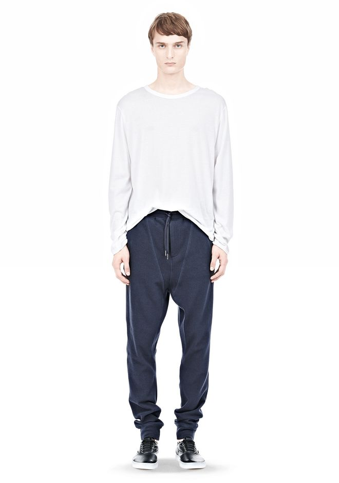 T by ALEXANDER WANG PIQUE DOUBLE KNIT LONG JOHN SWEATPANTS PANTS Adult 12_n_f