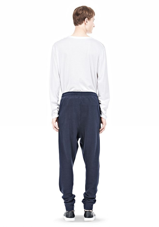 T by ALEXANDER WANG PIQUE DOUBLE KNIT LONG JOHN SWEATPANTS PANTS Adult 12_n_r