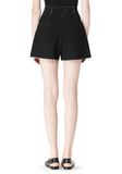 T by ALEXANDER WANG DOUBLE FACE BONDED HIGH WAISTED SHORTS SHORTS Adult 8_n_a