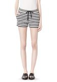 T by ALEXANDER WANG STRIPED FRENCH TERRY SWEATSHORTS SHORTS Adult 8_n_d