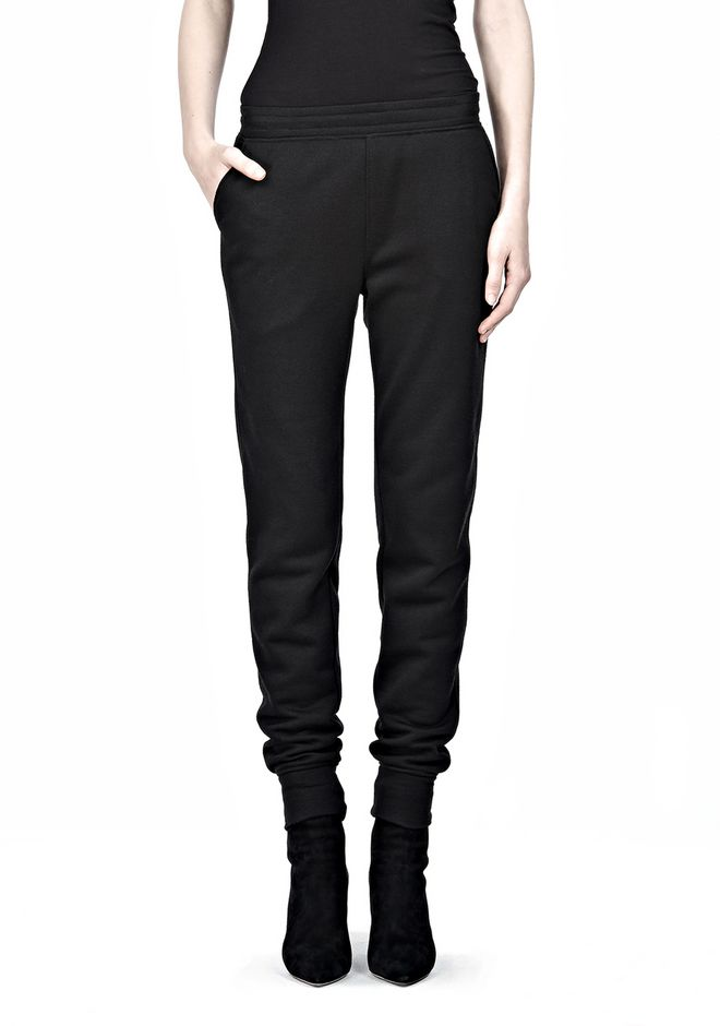 T by ALEXANDER WANG POLY RAYON FLEECE SWEATPANTS PANTS Adult 12_n_d