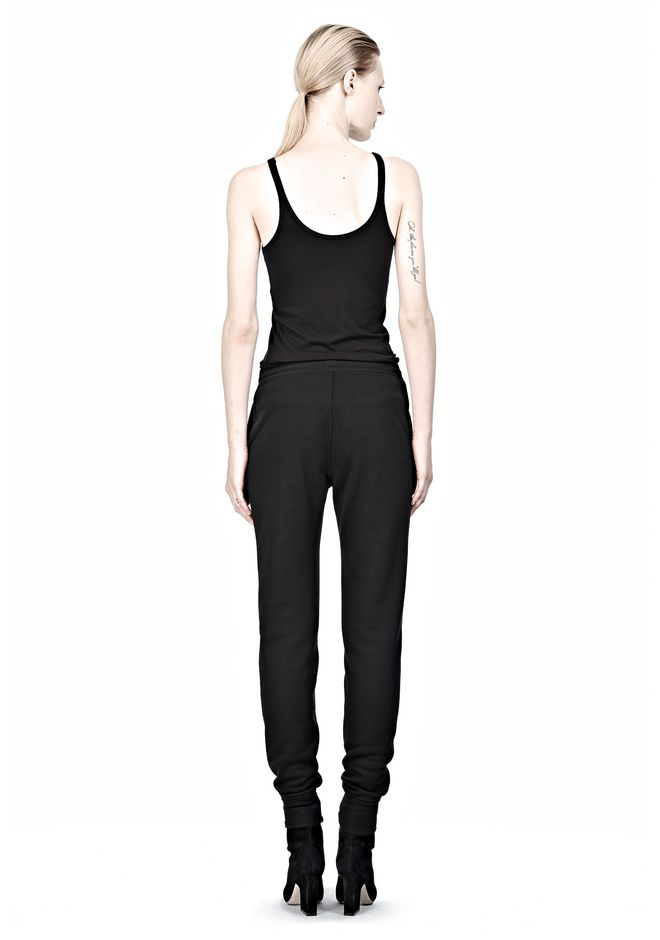 T by ALEXANDER WANG POLY RAYON FLEECE SWEATPANTS PANTS Adult 12_n_r