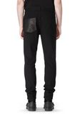 T by ALEXANDER WANG COTTON CANVAS TWILL JEANS WITH LEATHER BACK POCKET PANTS Adult 8_n_d