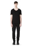 T by ALEXANDER WANG COTTON CANVAS TWILL JEANS WITH LEATHER BACK POCKET PANTS Adult 8_n_f