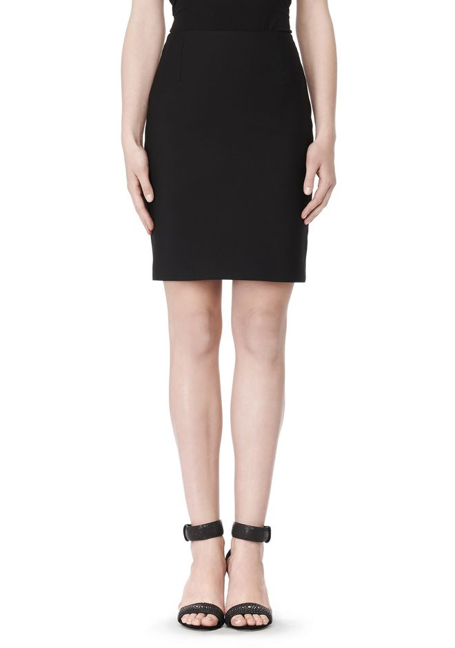 ALEXANDER WANG FITTED PENCIL SKIRT WITH TWO WAY ZIPPER SKIRT Adult 12_n_a