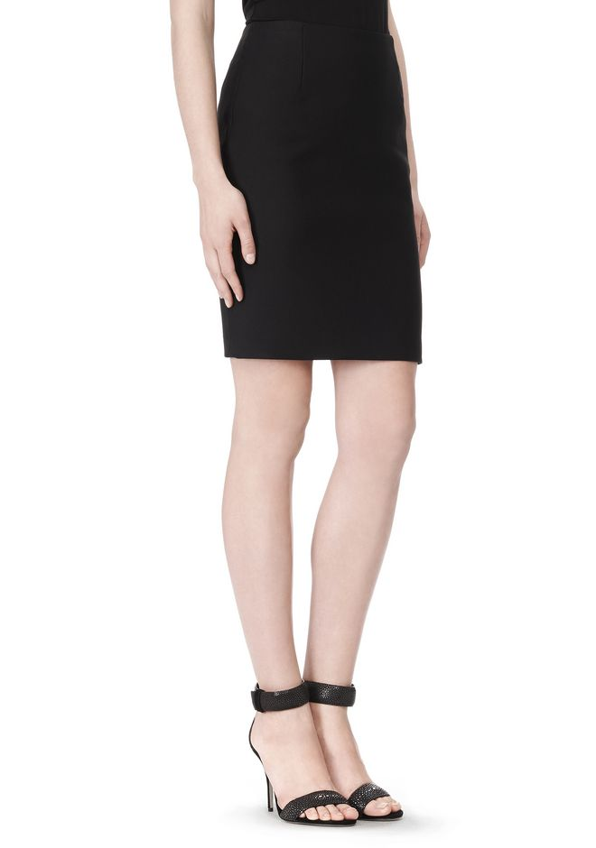 ALEXANDER WANG FITTED PENCIL SKIRT WITH TWO WAY ZIPPER SKIRT Adult 12_n_d