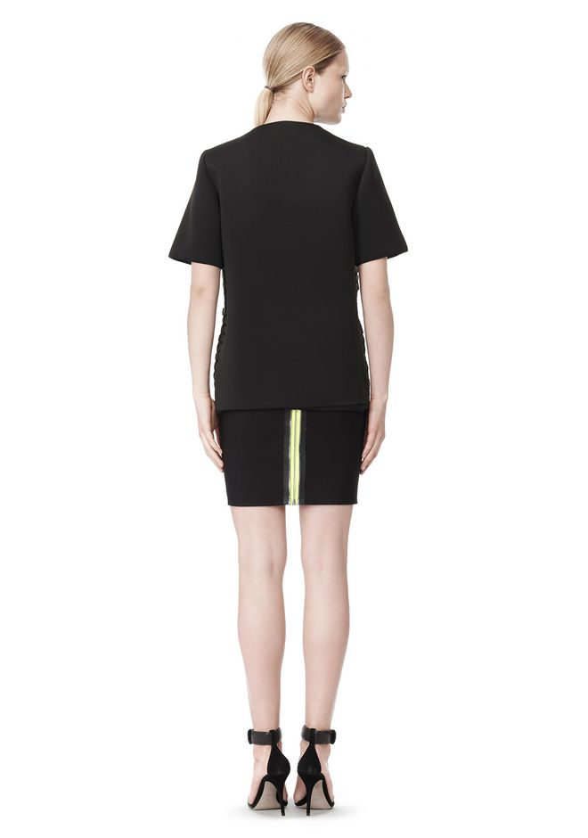 ALEXANDER WANG FITTED PENCIL SKIRT WITH TWO WAY ZIPPER SKIRT Adult 12_n_r