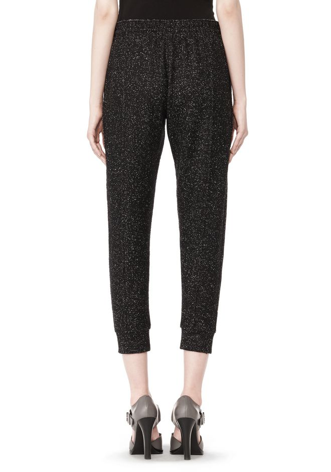 T by ALEXANDER WANG BOUCLE FLEECE TRACK PANT PANTS Adult 12_n_a