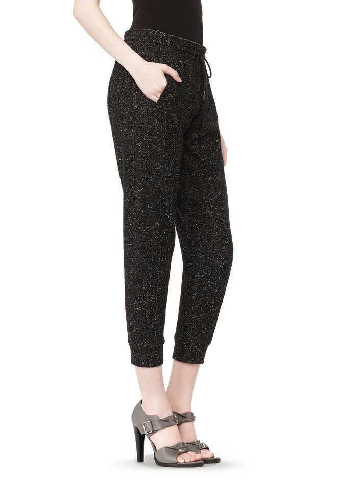 T by ALEXANDER WANG BOUCLE FLEECE TRACK PANT PANTS Adult 12_n_e