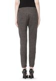 T by ALEXANDER WANG MELANGE FLEECE SWEATPANTS WITH RIB DETAIL PANTS Adult 8_n_a