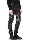 ALEXANDER WANG GATHERED LEATHER JEANS PANTS Adult 8_n_a