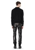 ALEXANDER WANG GATHERED LEATHER JEANS PANTS Adult 8_n_r