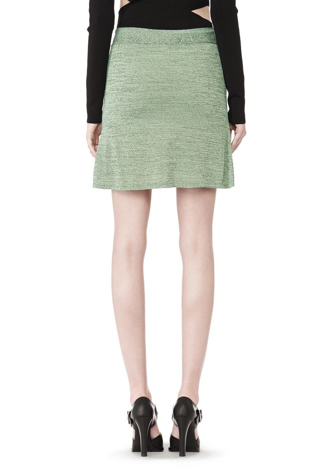 T by ALEXANDER WANG STRETCH RAYON KNIT A-LINE MINI SKIRT SKIRT Adult 12_n_d